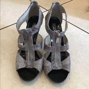 Michael Kors faux snake-skinned heels